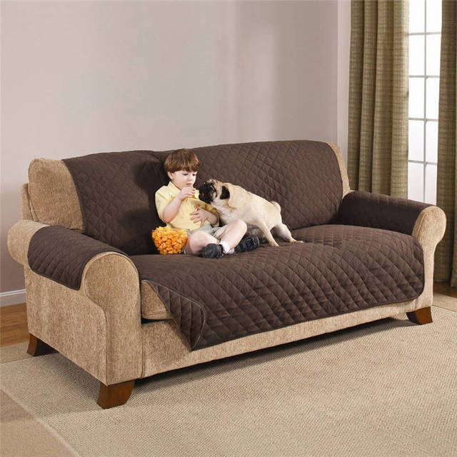 Sofa Covers For Living Room Reversible Pet Dog Couch Protector Cover  Polyester Sofa Seat Cover