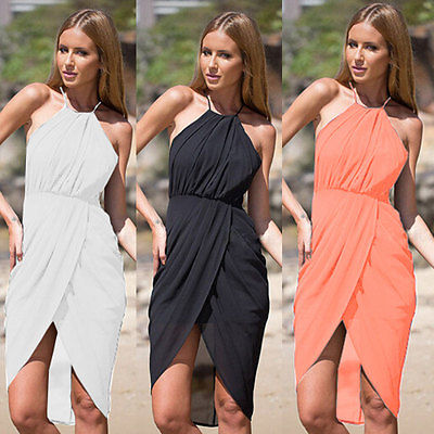 2015 Sexy Women Summer Boho Dress Evening Party Beach Dresses Chiffon Dress
