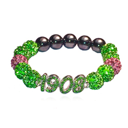1908 charm rhinestone bead bracelet for aka 1908 pink and green jewelry 1