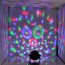 Details about 3W RGB CRYSTAL MAGIC BALL ROTATING LED STAGE LIGHT CLUB DJ DISCO PARTY US