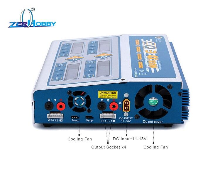 Oyuncaklar ve Hobi Ürünleri'ten Parçalar ve Aksesuarlar'de EV Tepe 100 W x 4 CQ3 RC Denge lipo pil şarj Nimh Nicd lityum pil şarj cihazı Deşarj Dijital LCD Ekran ile'da  Grup 2