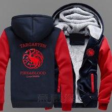 2017 New Game of Thrones  season 7 Hoodie Anime House Stark Coat Jacket Winter Men cool Thick Zipper Sweatshirt