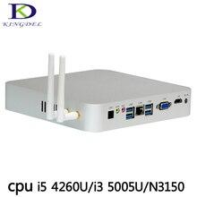 Kingdel бизнес Mini PC Barebone i5 4260u i3 5005u N3150 Windows 10 Mini PC 12 В VGA HDMI с вентилятором мини настольный компьютер