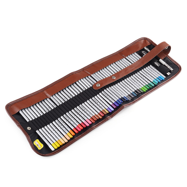 brixini.com - 48 Art Color Pencils with Roll Up Canvas Pouch