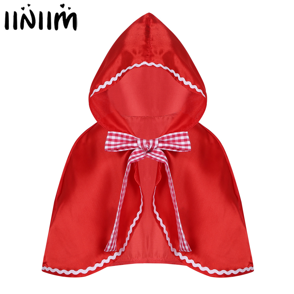 Baby Kids Girls Fancy Costumes Hooded Cloak Cape for Halloween Cosplay Red Riding Hood Party Costume Dress Up Masquerade