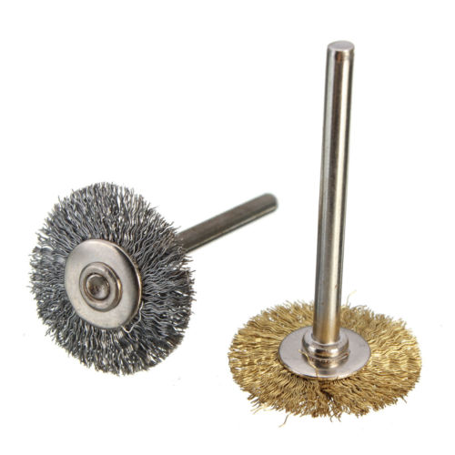 10pcs/set 3*22mm Brass Wire T Type Brush For Brushing Derusting Polishing Wheel Grinding Head Flat Steel Wire