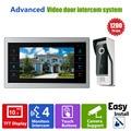 Homefong 10 pulgadas TFT LCD de Video Teléfono de la Puerta Sistema de Timbre con Cámara 3.7 MM Lente 1200TVL 1V1 Casa Entrada Apartamento Kit