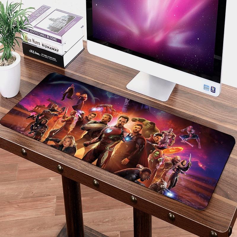 Tapis de souris SIANCS 70*30 cm Avengers Infinity War anime Gaming XL Grande Grande tapis de souris tapis de clavier gamer Thanos Iron Man