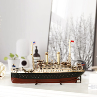 Creative Vintage Cruise Ship Model Desk Dessert Handmade Crafts Ornaments Manual European Sailing Wooden Boat Craft Accessories