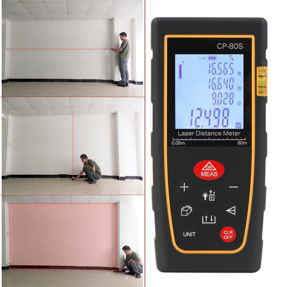 80M Handheld Digital Laser Distance Meter Range Finder Measure Diastimeter free shipping Hot