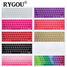 """Фотография US ENTER English Layout Keyboard Cover Silicone Skin Sticker for 2016 New MacBook Pro Retina 13"""" 15"""" with TouchBar A1706 A1707"""