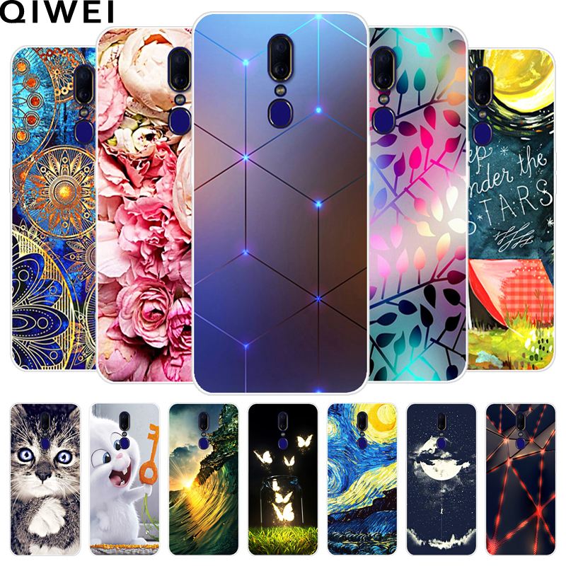 For OPPO F11 Case Cover 6.53'' Silicone Soft TPU Cute Back Cover Coque For OPPO F11 F 11 A9 A 9 Phone Cases For OPPOF11 Capas