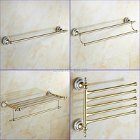Gold Color Brass Material Bathroom Accessories Towel Racks X16131 2