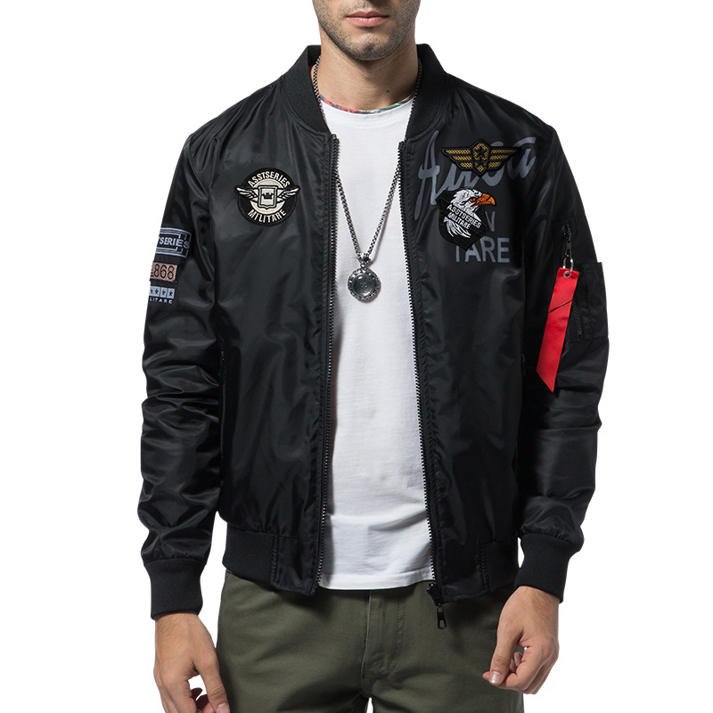 Big Size 5XL 6XL Men Bomber Jacket Army Military Pilot Autumn Male Embroidery Baseball Jacket Double Sided Yokosuka Coats ,GA371