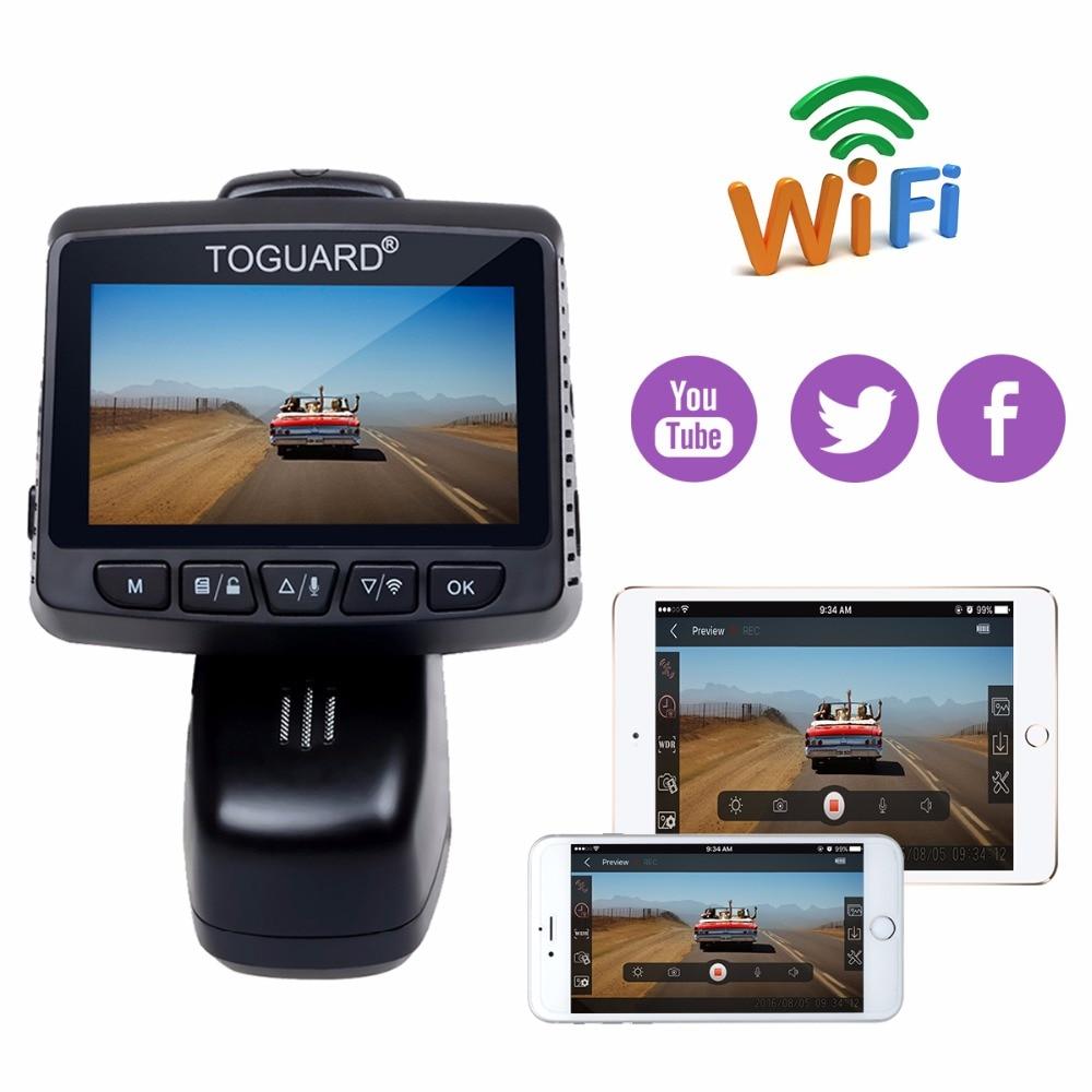 Grabaci/ón en Bucle Sensor G con Monitor de Estacionamiento TOGUARD C/ámara de Coche 4K Ultra HD con GPS WIFI Dash Cam 3 LCD Grande /Ángulo de 170/° C/ámara para Coche