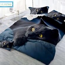 Лучшее. WENSD постельное белье для спальни с мультяшными животными из мягкого сверхтонкого волокна, набор пододеяльников с изображением кота, волка, тигра, простыня king-jogo de cama
