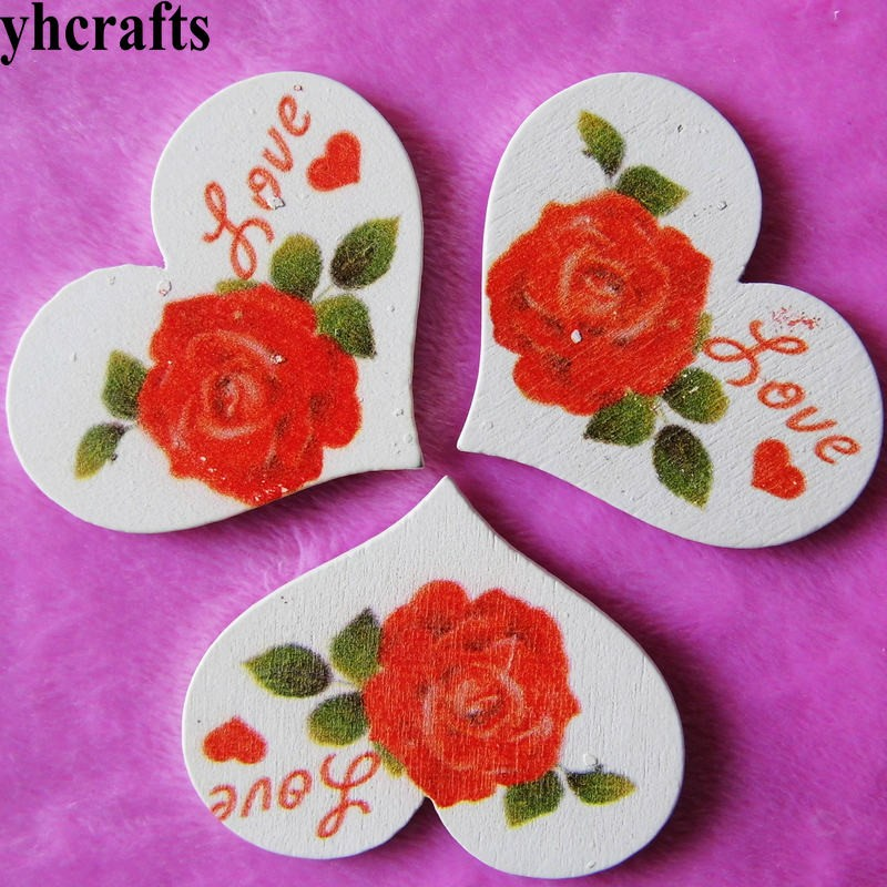 Arts & Crafts, Diy Toys Diligent 10pcs/lot,retro Rose Love Heart Wood Stickers,wedding Valentines Day Decoration Wall Fridge Stickers Craft Material Kids Toys Craft Toys