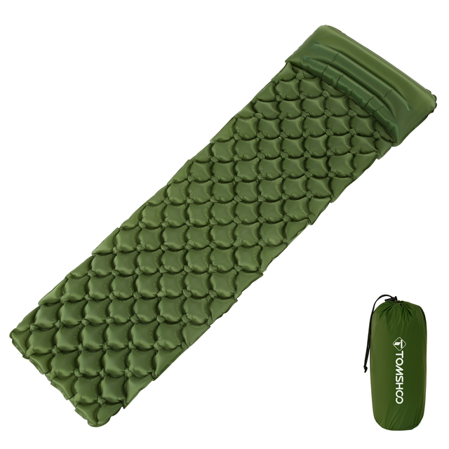 TOMSHOO Camping Mat Sleeping Pad Mattress Ultralight Inflatable with Pillow for Outdoor Camping Hiking Backpacking Travel