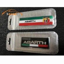цена на 1-4pcs Car Styling ABARTH 3D Emblem Badge 3M Aluminum Creative Stickers For Italy Fiat Abarth Viaggio Punto 124 125 500 Stickers