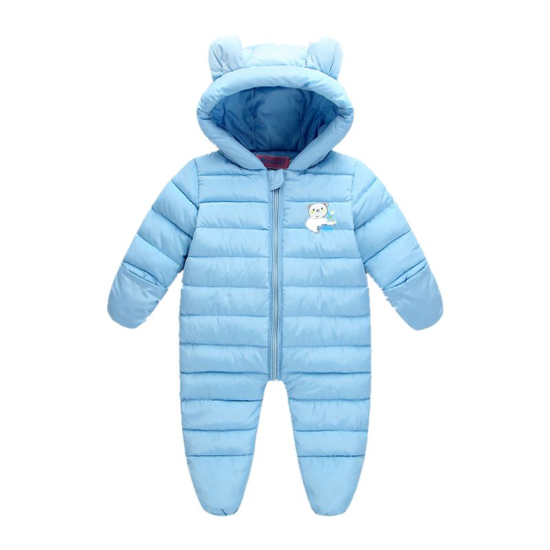 Newborn Snowsuit Baby Romper Winter Infantil Jumpsuit Baby Onesie Unisex Infant Snow Wear Warm Hooded Overalls Boys Girls Coat winter baby snowsuit baby boys girls rompers infant jumpsuit toddler hooded clothes thicken down coat outwear coverall snow wear