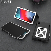 R JUST Flip Aluminum Metal Frame+ PC Protective Armor King ShockProof Case For Iphone XS MAX XR Phone case For Iphone XS MAX XR