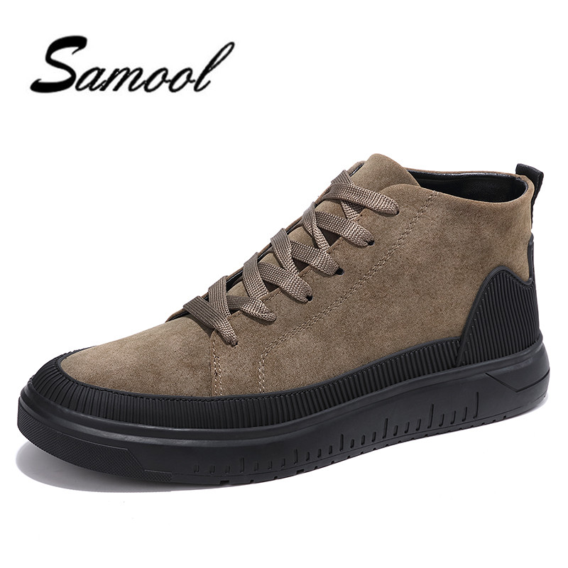 Fashion Men Causal Shoes Autumn Winter Warm Lace Up Leather Ankle Boots Man Casual High Top Comfortable Breathable Shoes ly5 0 25kg multifunction claw hammer carbon steel nail hammer steel handle woodworking household hand tools page 5