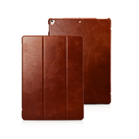 Luxury Cowhide Genuine Leather Case For IPad Pro 12 9 2017 Filp Business Stand Protective Smart
