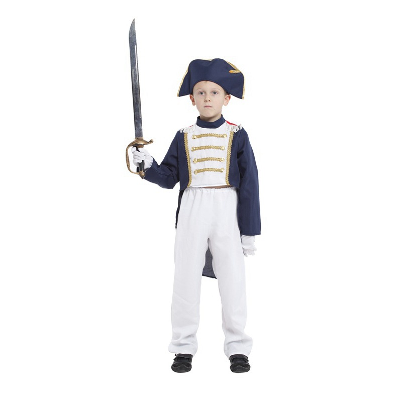 1 Set (hat Top Pants) Kids Napoleon Costume For Boys Christmas Halloween Holiday Party Costume Child Fragrant (In) Flavor