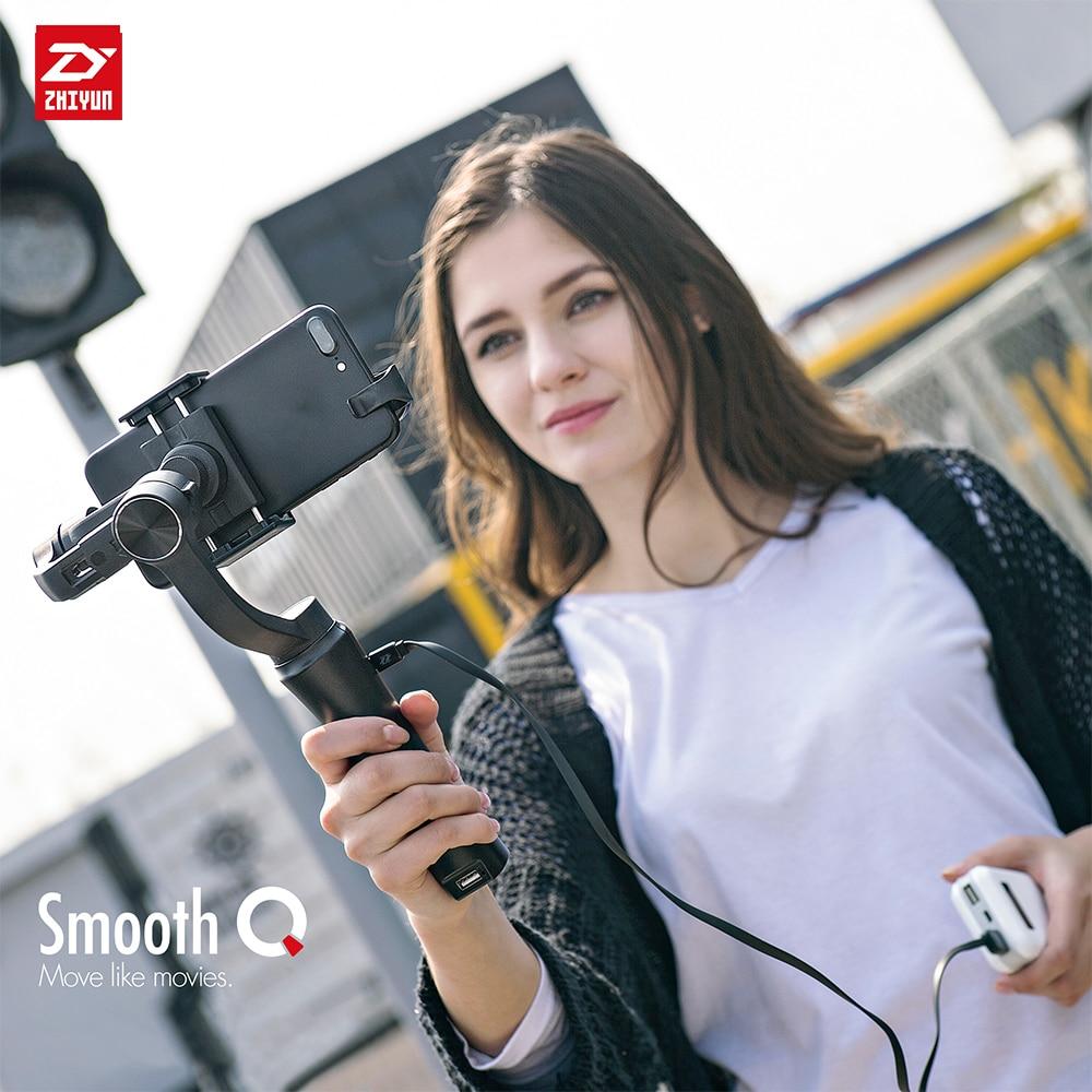 zhi yun Zhiyun Official Smooth Q 3 Axis 360 Motors Degree Moving Handheld Gimbal Stabilizer Phone