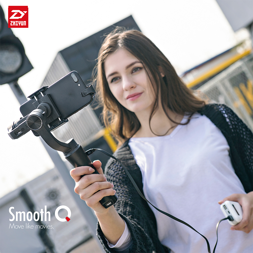 zhi yun Zhiyun Official Smooth Q 3-Axis 360 Motors Degree Moving Handheld Gimbal stabilizer zhiyun crane 3 axis handheld gimbal stabilizer 360 motors degree moving gimbal vs beholder ds1 ms1 nebula 4000 lite for dslr