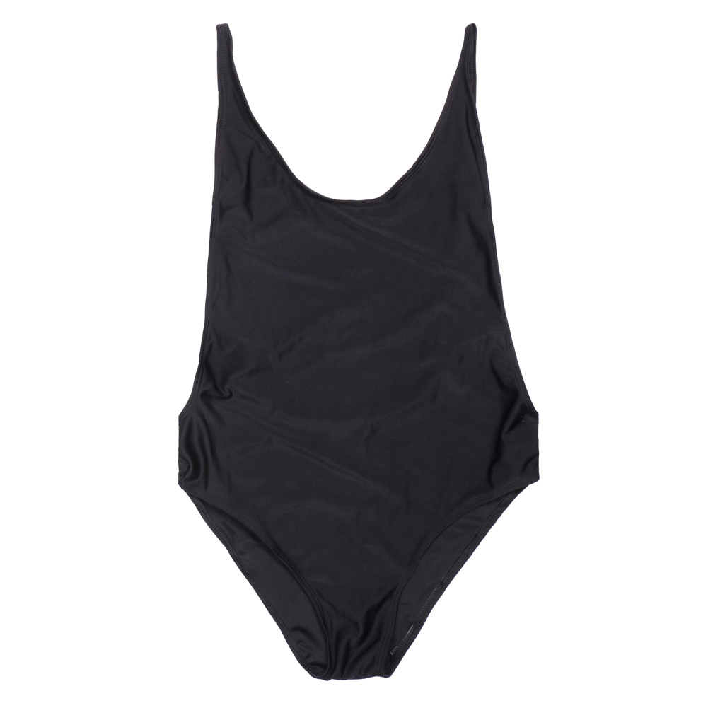 Lady Swimsuit Side Cut Out Backless Strappy Shoulder One Piece