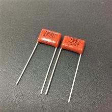 10pcs CBB 104 250V 100nF P10 104J CBB21 0.1uF Filme de Polipropileno Metalizado Capacitor