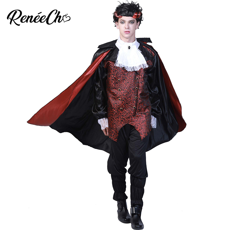 Halloween Costume For Men Adult Costume 2018 Adult Vampire Costume Man Cosplay Outfit For Carnival Party Wear Christmas Costume