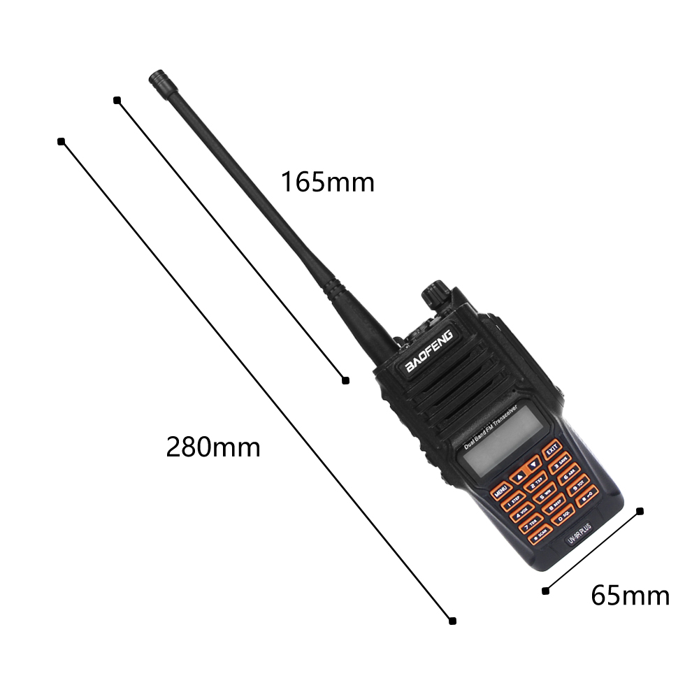 Image 4 - Newest Baofeng UV 9R Plus Walkie Talkie Waterproof 8W UHF VHF Dual Band 136 174/400 520MHz Ham CB Radio FM Transceiver Scanner-in Walkie Talkie from Cellphones & Telecommunications