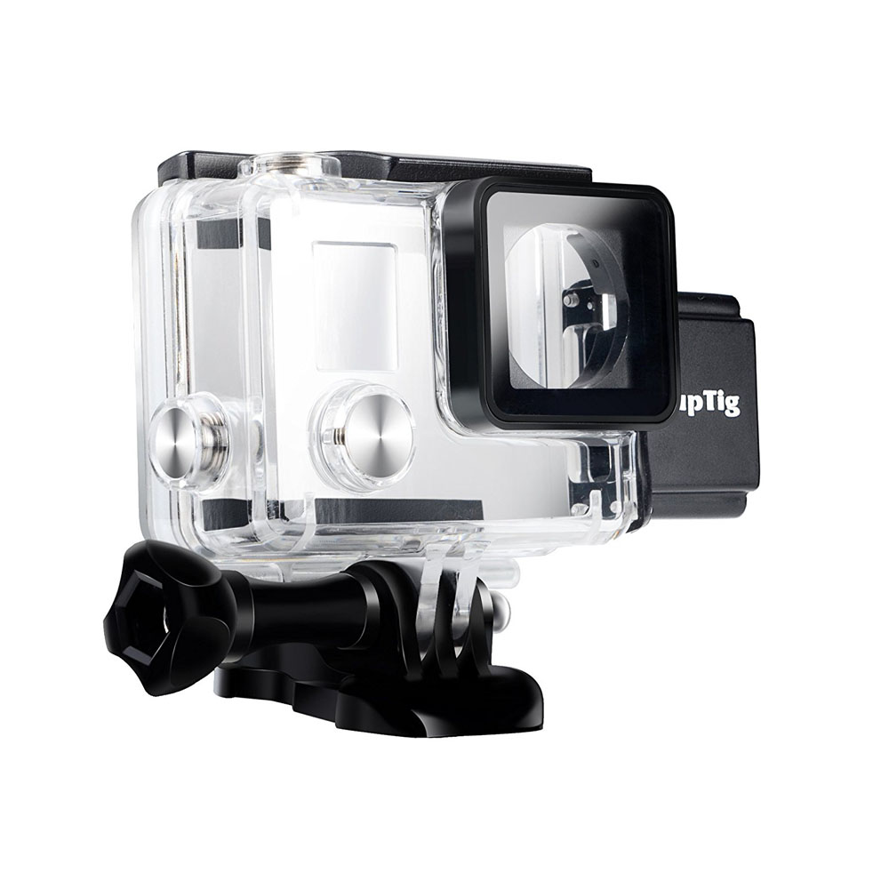 5200MA Waterproof Power Bank Battery Charger+Underwater Protective Housing Case Skeleton Shell For Go Pro Hero4 Hero3+3 Charging