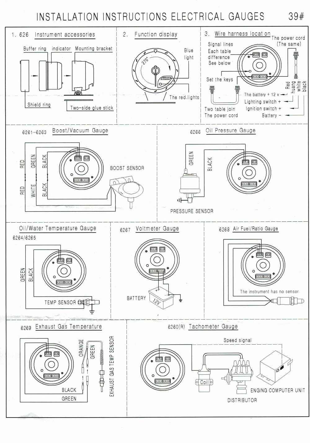 Oil Temp Gauge Wiring Diagram | Wiring Diagrams Water Temp Gauge Wiring Diagram on