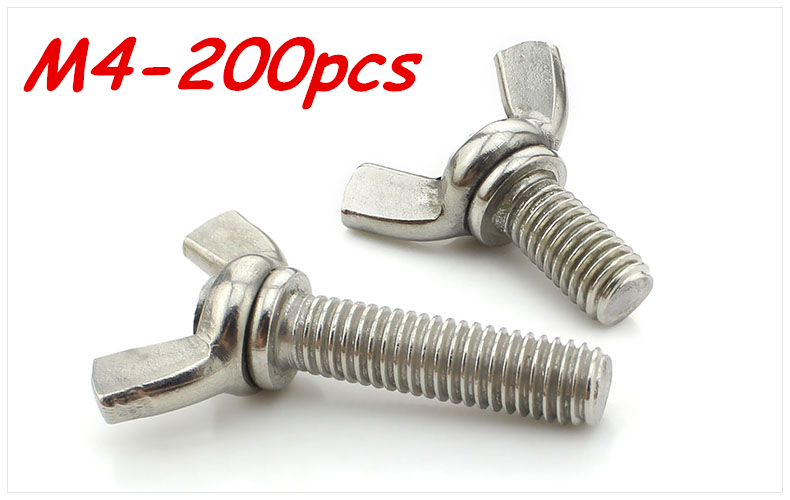 M4 8 10 12 16 20 25 30mm Stainless Steel Butterfly bolt Wing screw Claw bolt