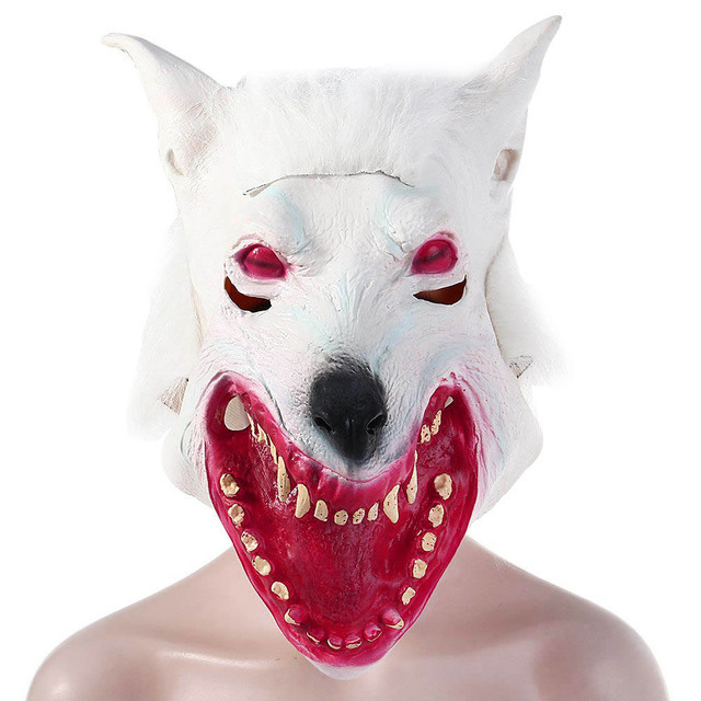Creepy Realistic Wolf Head Mask Funny Cosplay Animal Halloween Novel Comedy Prop Gags & Practical Jokes