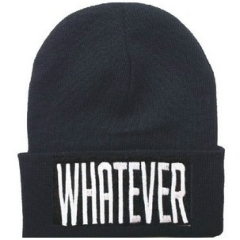 Men and Women's WHATEVER Letter Embroidery Outdoor Hip Hop Knitted Wool Hat Europe and The United States Ski Cap RX063 20 colors fall and winter europe and the united states men and women s bad hair day embroidery beanie kintted wool hat hiphop