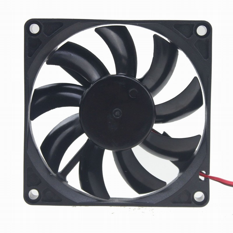 2 pcs Gdstime DC 12V 80mm x 15mm Computer Case Brushless Cooling Fan PC CPU Axial Fan 80x80x15mm 8cm 2Pin