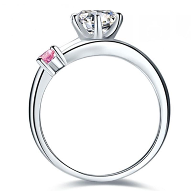 Telesthesiaรัก1.01Ctล้างและสีชมพูสังเคราะห์เพชรแหวนหมั้นสำหรับรักS925เงินสเตอร์ลิงแหวนสีขาวสีทอง-ใน แหวนหมั้น จาก อัญมณีและเครื่องประดับ บน   3