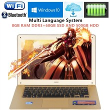 1920x1080P FHD Screen 8GB RAM+60GB SSD+500GB HDD Ultrabook Laptop Intel Celeron j1900 Duad Core 2.0GHz USB 3.0 Port on for SALE