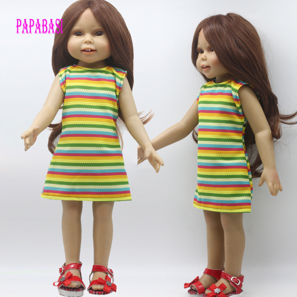 1PCS Doll colorful dress for 18 inch Dolls American Girl dolls Clothes