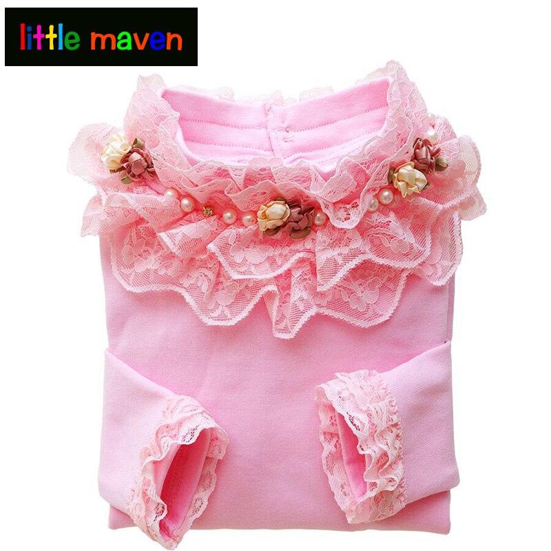 Princezna halenka pro dívky do školy 2017 podzim nová velká dívka s dlouhým rukávem spodní prádlo bavlněná mikina dětské oblečení 2-12 Y