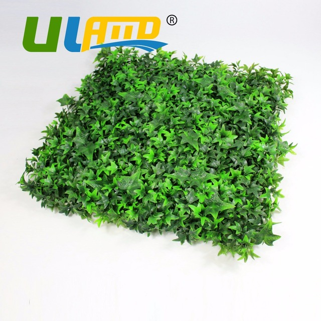 ULAND 25x25cm/pc Artificial Boxwood Hedges Plastic Privacy Fence Screening  UV Garden Fence Green Wall