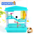 new arrival Deluxe full transparent hamster cage Hamster House luxury Guinea Pig Cage Hamster Small villa Cage Small Animal Nest