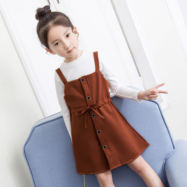 big girls sleeveless dress set baby girls clothes sets long sleeve outfits suits child t shirts tops dresses sets spring 2018 girls baby long sleeve tops t shirt bib cartoon minnie 2pcs outfits set 1 5y