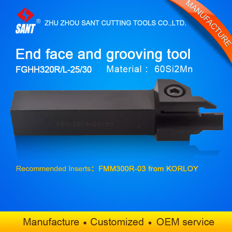 Zhuzhou Sant cnc cutting tools Grooving tool holder FGHH320R-25/30 with Korloy inserts FMM300R-03 selling hot in abroadZhuzhou Sant cnc cutting tools Grooving tool holder FGHH320R-25/30 with Korloy inserts FMM300R-03 selling hot in abroad