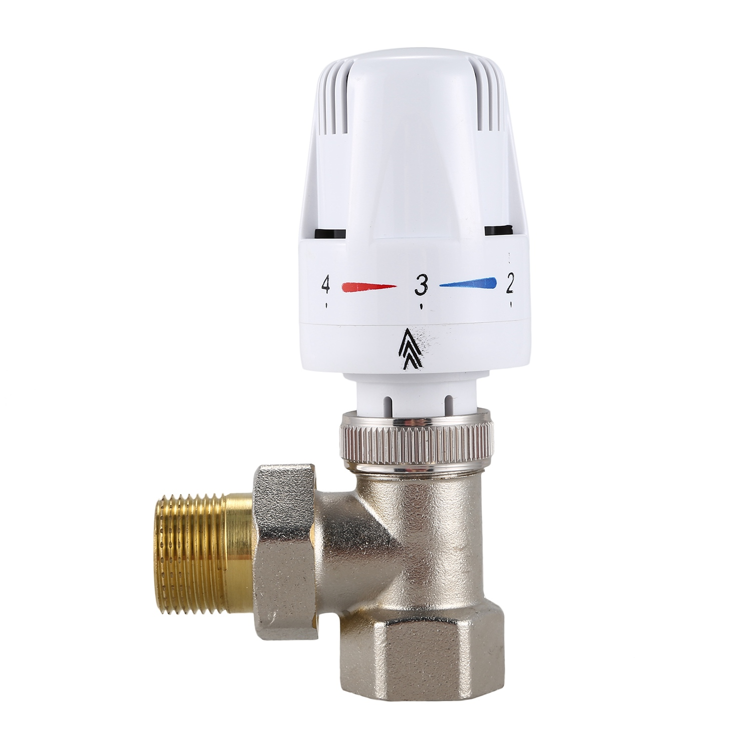 Hot DN20 Copper AutomaticTemperature Control Valve Angle Floor Heating And Heating Special Valve