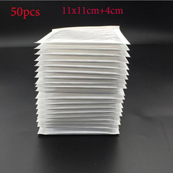 (11*11 cm + 4 cm) weiß Blase Umschlag Blase Tasche Blase Film Umschlag Schock Tasche 50 stücke
